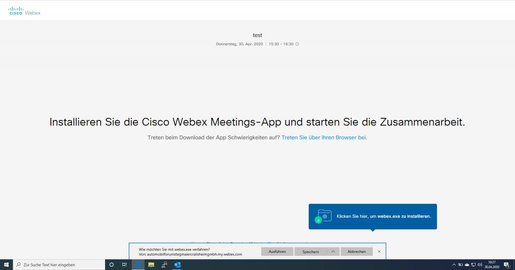 Webex Installation